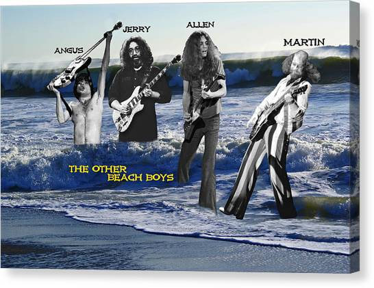 Canvas Print featuring the photograph The Other Beach Boys by Ben Upham III