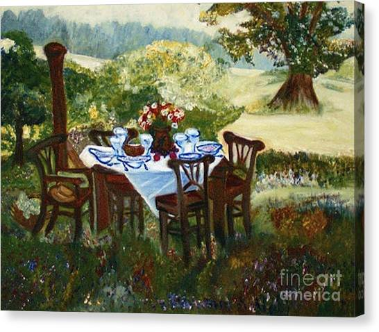The Outdoor Gathering Canvas Print