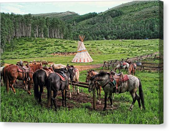 The Outpost Canvas Print by Gene Praag