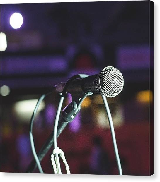 Microphones Canvas Print - The Overly Used Image Everyone Takes by Kartik Anand