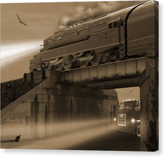 Buzzards Canvas Print - The Overpass 2 by Mike McGlothlen