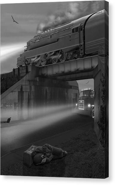 Buzzards Canvas Print - The Overpass by Mike McGlothlen
