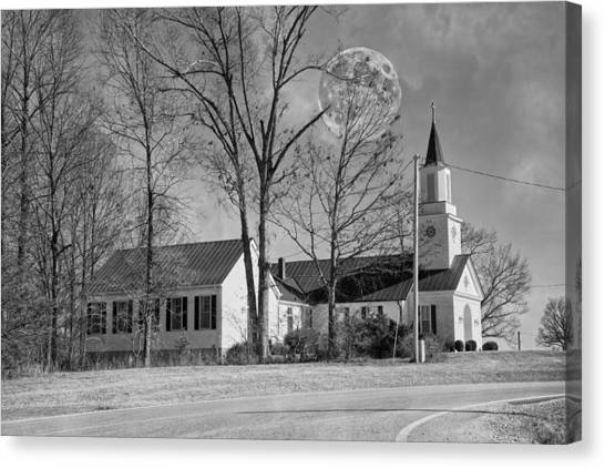 House Of Worship Canvas Print - The Overseer  by Betsy Knapp