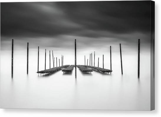 Oysters Canvas Print - The Oyster Bar by Christophe Staelens