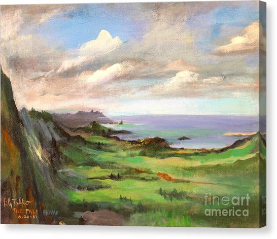 The Pali Oahu Hawaii - 1960 Canvas Print