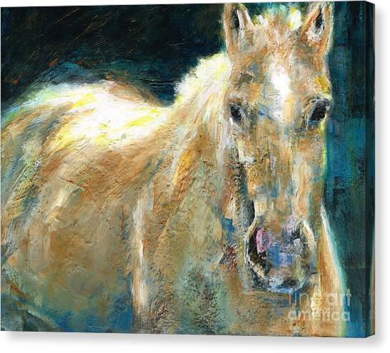 Abstract Horse Canvas Print - The Palomino by Frances Marino