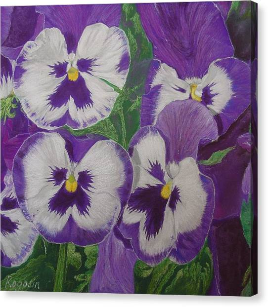 The Pansy Brothers Canvas Print