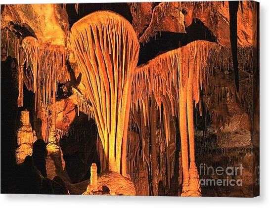 Limestone Caves Canvas Print - The Parachute Shield by Adam Jewell