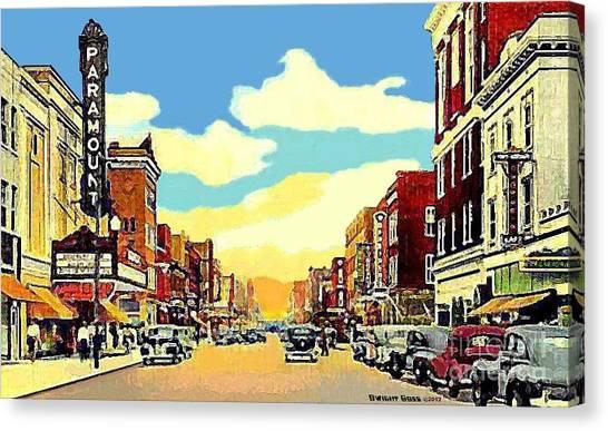The Paramount Theatre In Newport News Va In 1940 Canvas Print