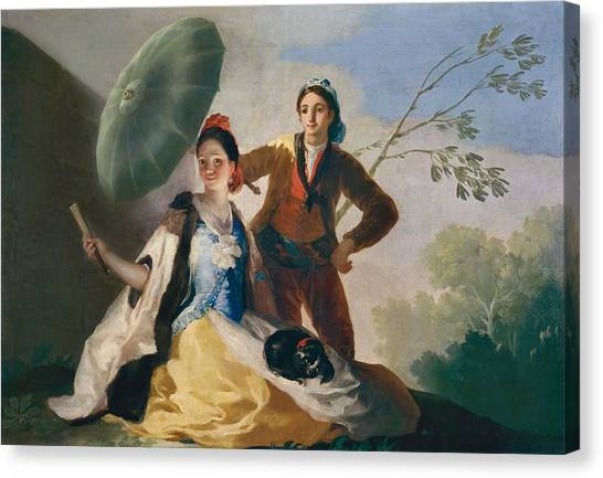 The Prado Canvas Print - The Parasol by Francisco Goya