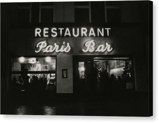 The Paris Bar Canvas Print