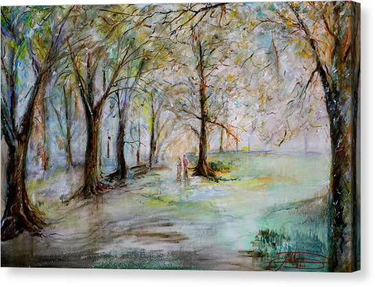 The Park Bench Canvas Print