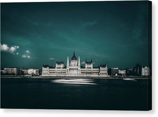 Palace Canvas Print - The Parliament by Carmine Chiriaco'