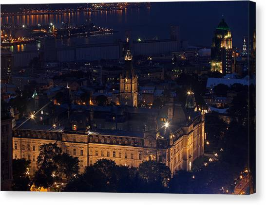 Parliament Hill Canvas Print - The Parliament Of Quebec by Juergen Roth