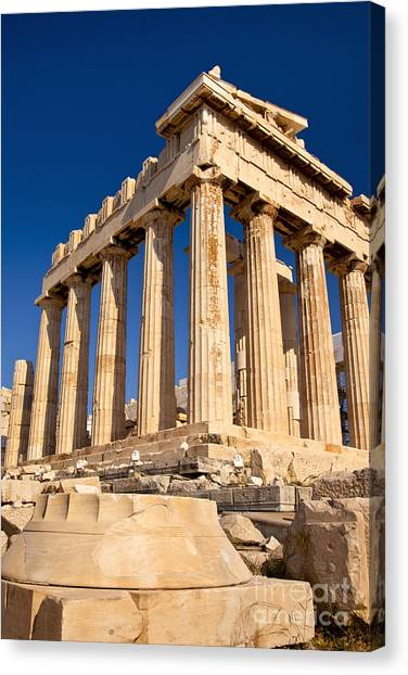 The Acropolis Canvas Print - The Parthenon by Brian Jannsen