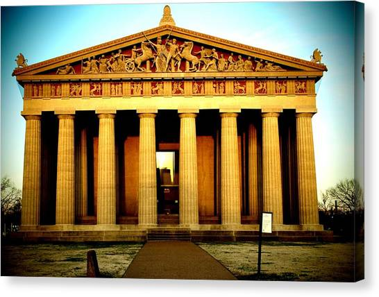 The Parthenon Canvas Print - The Parthenon by Dan Sproul