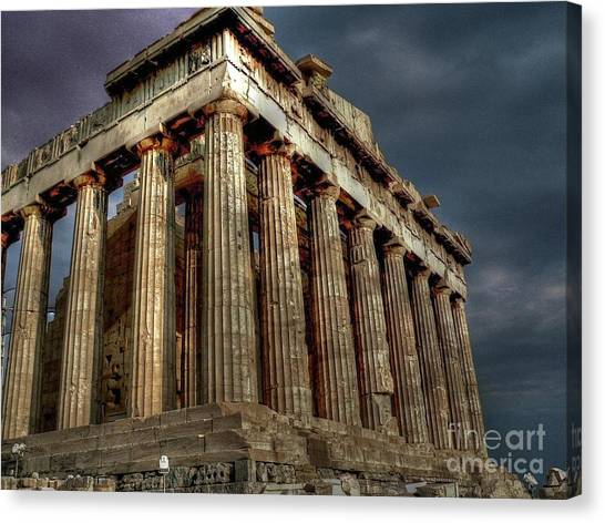 The Acropolis Canvas Print - The Parthenon by David Bearden