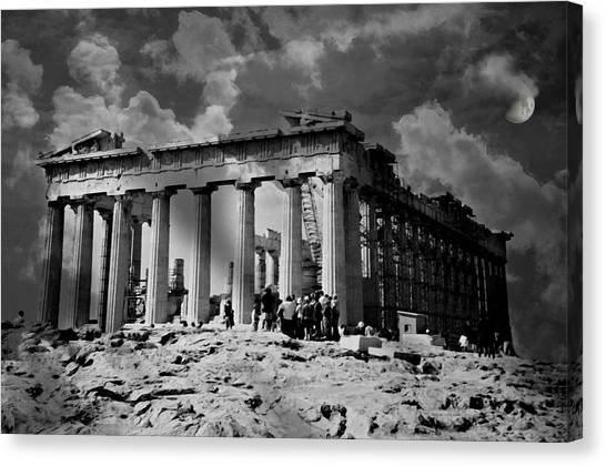 The Acropolis Canvas Print - The Parthenon by Diana Angstadt