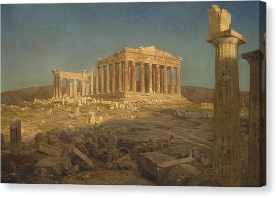 Athens Canvas Print - The Parthenon by Frederic Edwin Church