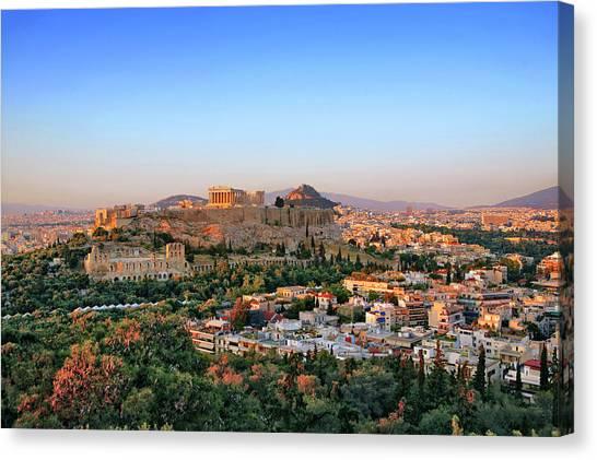 The Parthenon In Athens Canvas Print