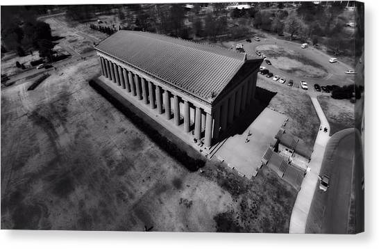 The Parthenon Canvas Print - The Parthenon In Black And White by Dan Sproul