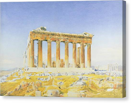 The Acropolis Canvas Print - The Parthenon by Thomas Hartley Cromek