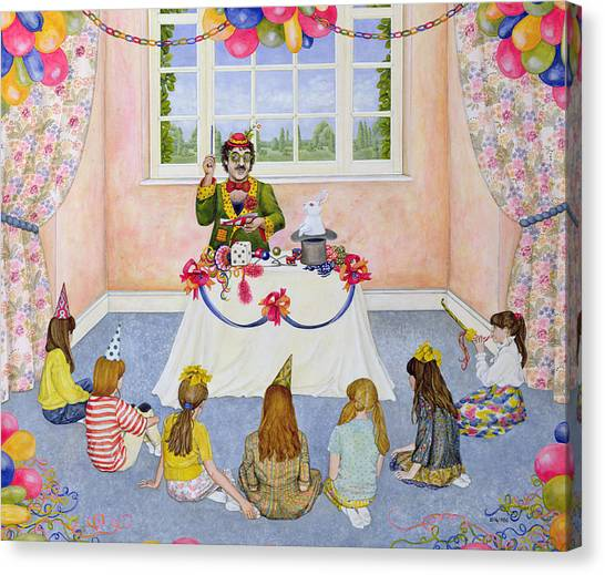 Hat Trick Canvas Print - The Party by Ditz