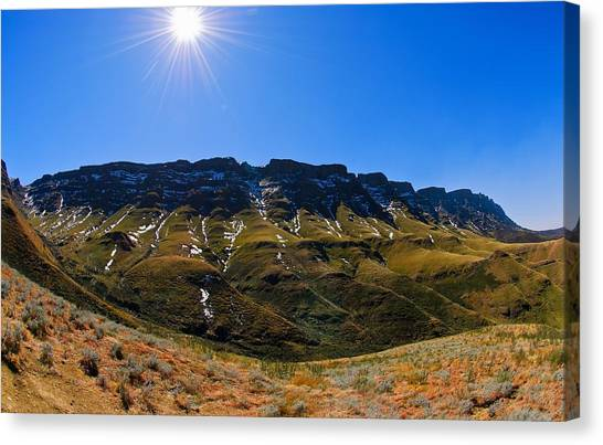 The Pass Canvas Print by Aaron Bedell