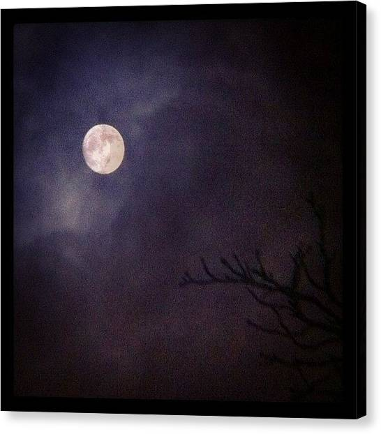 Passover Canvas Print - The Passover Moon  #passover #moon by Dan Warwick