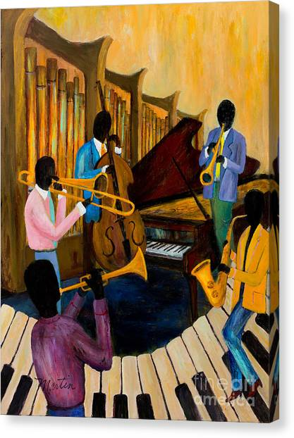 The Pastels Canvas Print by Larry Martin