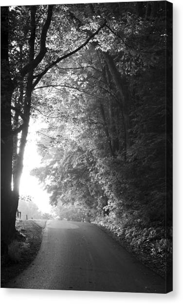 Monochromatic Canvas Print - The Path Ahead by Andrew Soundarajan