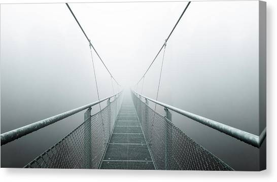 Desolation Canvas Print - The Path To Infinity by Max Zimmermann