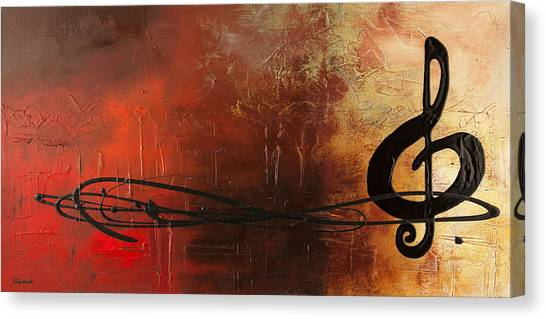 Trombones Canvas Print - The Pause by Carmen Guedez