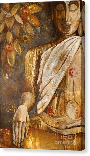The Peace Of The Buddha Canvas Print by Paulina Garoa