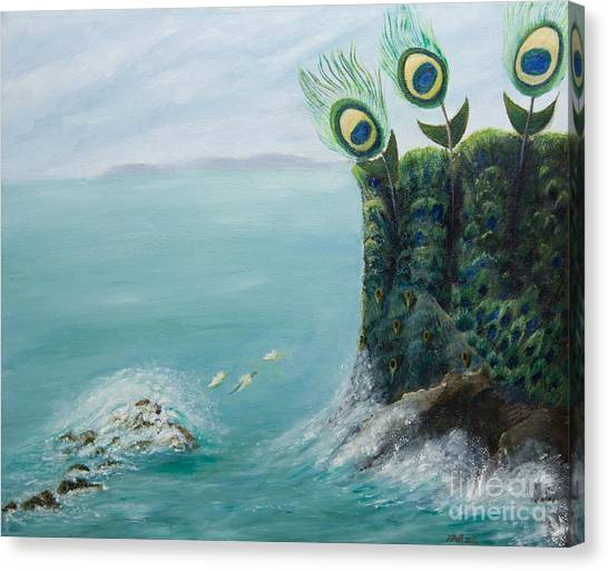 The Peacock Cliffs Canvas Print