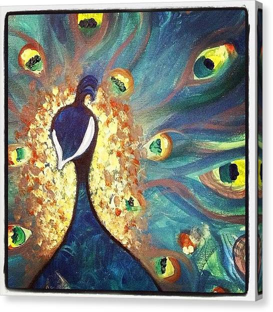 Peacocks Canvas Print - The Peacock by Go Inspire Beauty