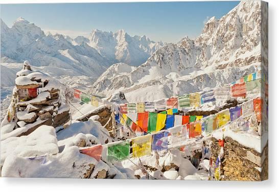 Mount Everest Canvas Print - The Peak Of Gokyo Ri by Kristin Lau