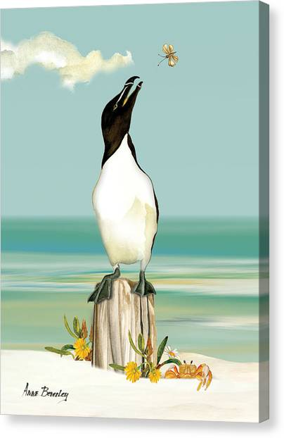 Razorbills Canvas Print - The Penguin Has Landed by Anne Beverley-Stamps