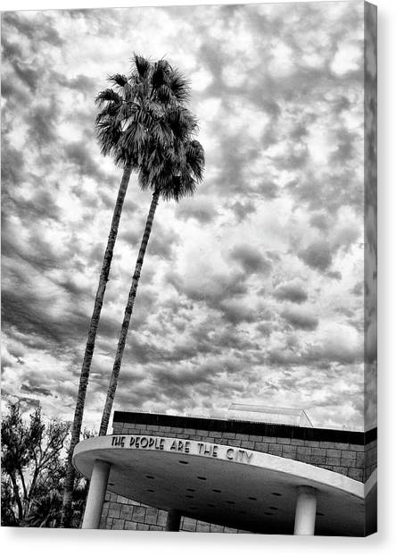 Inland Canvas Print - The People Are The City Palm Springs City Hall by William Dey
