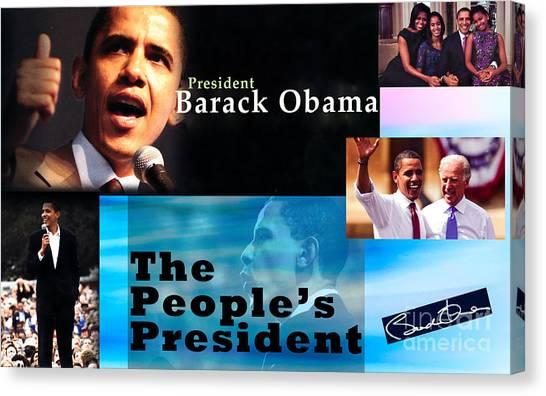 Joe Biden Canvas Print - The People's President Still by Terry Wallace