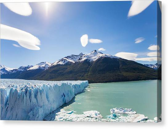 Perito Moreno Glacier Canvas Print - The Perito Moreno Glacier And Lake by Mike Theiss