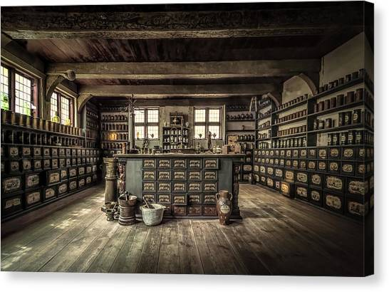 Drawers Canvas Print - The Pharmacy by Ole Moberg Steffensen