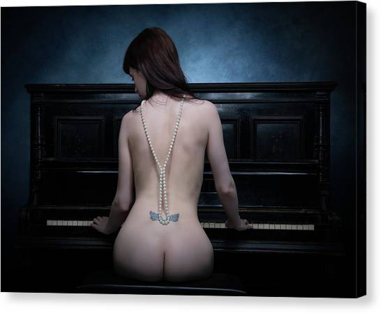 Necklace Canvas Print - The Piano I by Luc Stalmans