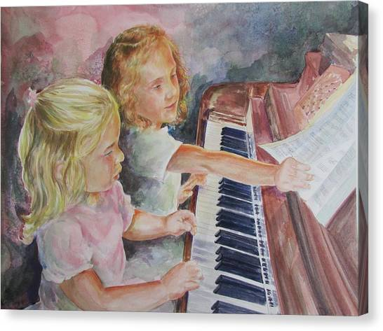 The Piano Lesson Canvas Print