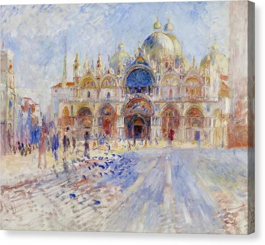 Pierre-auguste Renoir Canvas Print - The Piazza San Marco by Pierre Auguste Renoir