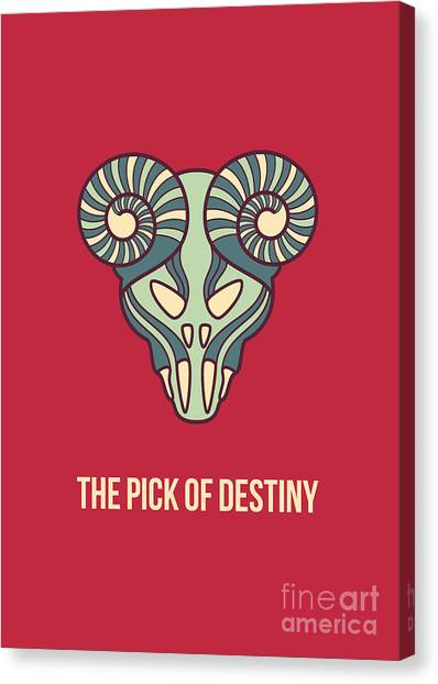 Guitar Picks Canvas Print - The Pick Of Destiny by Freshinkstain