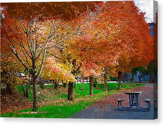 The Picnic Table Canvas Print
