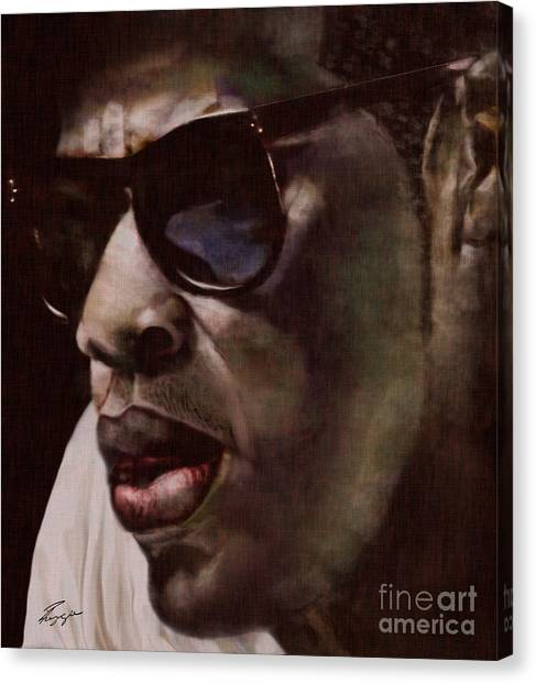 Jay Z Canvas Print - The Pied Piper Of Intrigue - Jay Z by Reggie Duffie