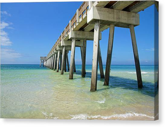 The Pier Canvas Print by Thomas Fouch