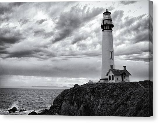Warner Park Canvas Print - The Pigeon Point Beacon by Eduard Moldoveanu